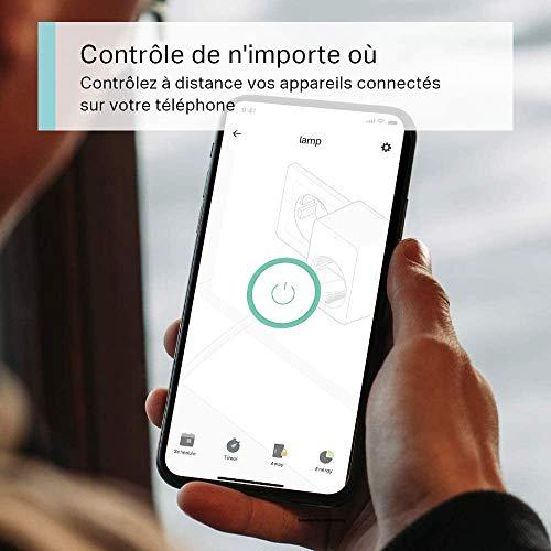 TP-Link Tapo Prise Connectée WiFi, Prise Intelligente compatible avec Alexa, Google Home et Siri, 10A, Contrôler la cafetière, la lampe, le radiateur à distance, aucun hub requis,Tapo P100(FR)1Pack