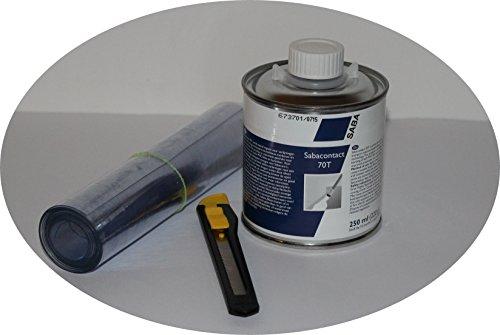 (59,96Euro/1ltr) Sabacontact Weich PVC Kleber 250ml Pinseldose LKW Plane Kunstleder Kleber