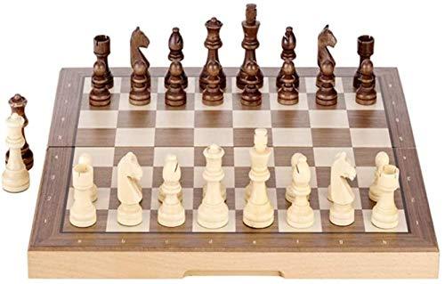 Juego ajedrez para niños y Adultos, Juego De Mesa De Ajedrez para Adultos Niños, Conjunto De Ajedrez De Madera Magnético, 15 Pulgadas De Viaje Plegable Desarrollo Intelectual Juego De Ajedrez Juego