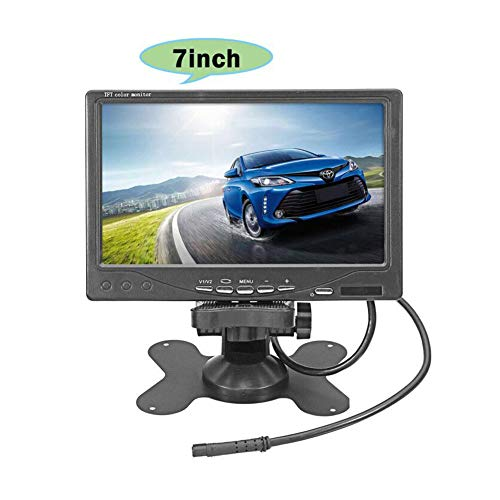 Vehicle On-Dash Backup Monitor, 7 Digital HD Car TFT LCD Color Screen Display with 2 Video Input for Rear View Camera