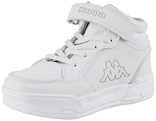 Kappa Unisex Kinder STIC HIGH Kids Sneaker, 1014 White/l`Grey, 27 EU