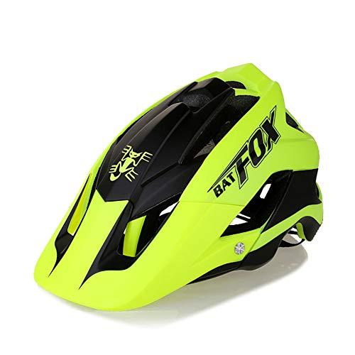 FeMereina Unisex Casco para Bicicleta MTB, Bicicleta de Montaña Visera Desmontable +...