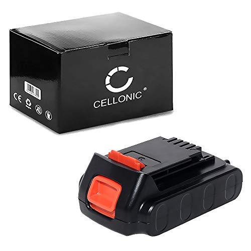 CELLONIC® Premium Akku (18V, 2Ah, Li-Ion) kompatibel mit Black & Decker ASL186K, BDCCS18, BL186K, BL188K, EGBL18, EGBL188K, GKC1000L, STC1815 - LB20/ LBX20 / LBXR20 Ersatzakku Batterie Werkzeugakku