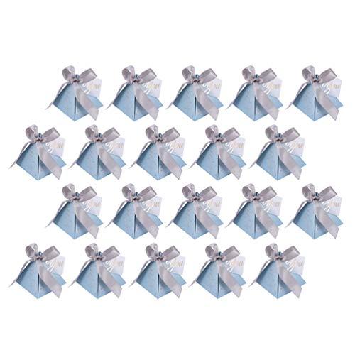 Cabilock 20Pcs Dreieckige Pyramide Süße Süßigkeiten Box Hochzeit Begünstigt Papierboxen Geschenk Schokolade Taschen Hochzeit Dekoration Lieferungen
