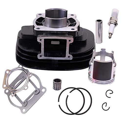 GLENPARTS 66mm Cylinder Head Piston Gasket Top Rebuild Kit for Yamaha Blaster YFS200 1988-2006