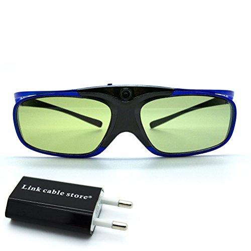 LCS - 2 Paires de lunettes 3D actives DLP-LINK exclusivement pour...