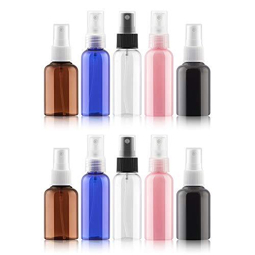 N/A Lot de 10 vaporisateurs vides pour cosmétiques et liquides rechargeables 50 ml
