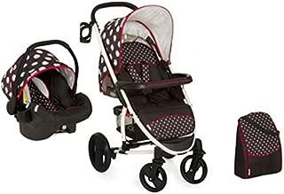 Hauck Malibu XL Shop'n Drive with Mamma Bag, Travel System, 0M+ to 18 kg - Dots Black