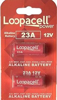 2 LOOPACELL A23 GP23AE 21/23 23A 23GA MN21 GP23 23AE 12v Alkaline Batteries