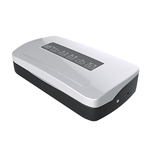 Allpax Vakuumierer F 210 silber inkl. 100 Vakuumbeutel 17,5 x 25 cm – Lebensmittel bis zu 8 Mal länger frisch halten! Voll- & Teilvakuum durch Pulse-System, 310 mm Schweißleiste und 2,2 mm Schweißnaht