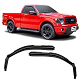 Voron Glass in-Channel Extra Durable Rain Guards for Trucks Ford F-150 2009-2014 Regular Cab, Window Deflectors, Vent Window Visors, 2 Pieces - 210016