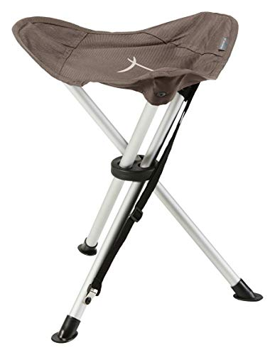 Grand Canyon SUPAI - silla de camping, taburete trípode plegable - hasta 100 kg - aluminio - Falcon (marrón)