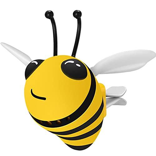 TOSSPER Little Bee Coche Salida De Aire Charm Clip, Perfume Aire Acondicionado Vent Decoración Accesorios para Coche Accesorios De La Abeja Ambientador Perfume del Coche Accesorios Decoración
