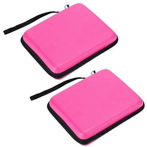 Kafuty-1 Bolsa de Almacenamiento para Consola de Juegos de 2 Piezas, Bolsa de Almacenamiento portátil Funda Protectora Funda Protectora con Cordones para Mano de Obra Fina 2DS, Buena(Pink)