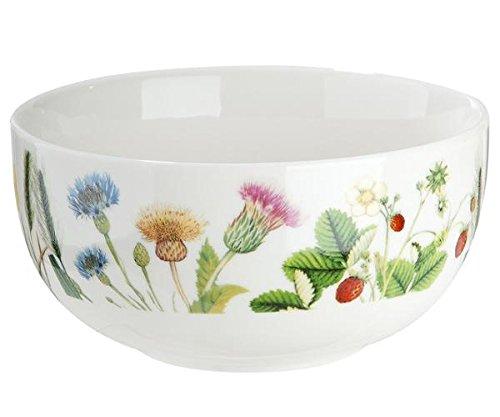 Gilde Saladier/Bol Porcelaine avec des fleurs et papillons \