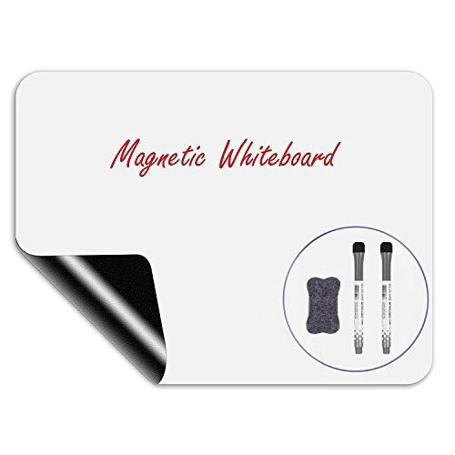 Magnetische Whiteboard-Planer, trocken abwischbare Whiteboard-Folie für Kühlschrank, Gefriertür für Küche für Memos, Notizen und Planung von Mahlzeiten