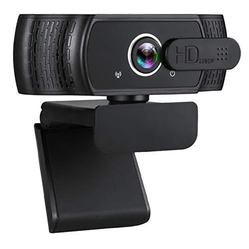 Webcam with Microphone, 1080P HD USB Webcam with Privacy Cover for Desktop PC Laptop, Plug & Play, Streaming Video Web Camera for Conferencing Zoom Online Classes Gaming