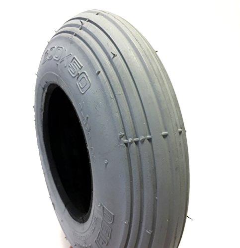 CST - Neumático para silla de ruedas (200 x 50 cm, también 8 x 2), color gris