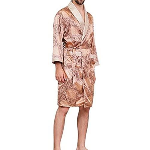DEWUFAFA Albornoz Hombres Damas Vestido Nocturna Homewear Pijama Nightwear (Color : Camel, Size : XXXXX-Large)