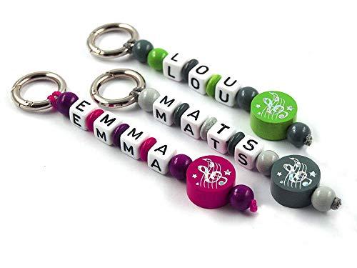 Schlüsselanhänger mit Namen - handmade - Taschenbaumler - Notenschlüssel - verschiedene Farben - Musik - Note - Schlüsselband