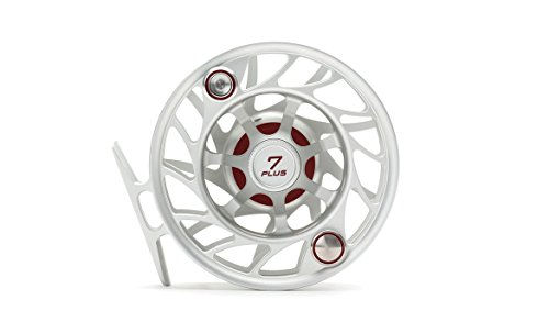 Hatch Gen 2 Finatic 7 Plus Fly Reel, Clear/Red, Large Arbor