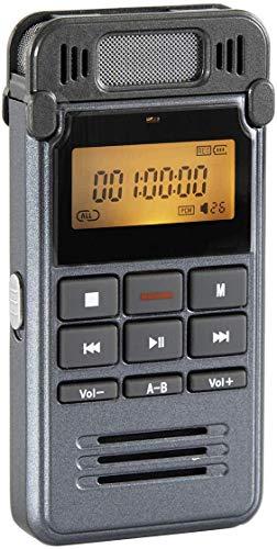 Sp-Cow Grabadora de Voz Digital Portátil, 8GB Recargable Grabadora Sonido Estereo con Carcasa Metálica, Clara Grabación, Reducción de Ruido, ctivada por Voz, Conexión a PC, Reproductor de MP3