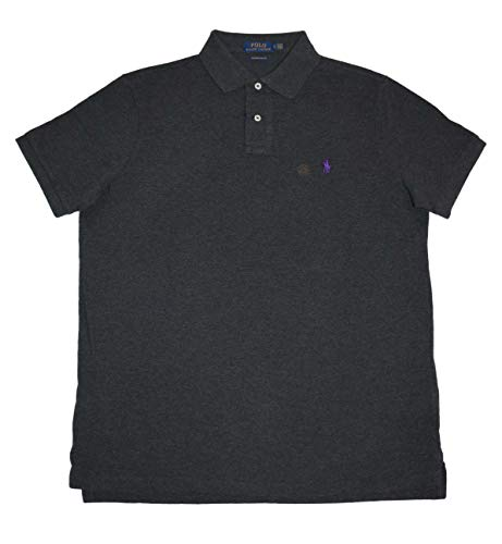 Polo Ralph Lauren Men Classic Fit Mesh Polo Shirt, Grey Heather (X-Large)
