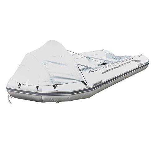 FIX-KRAFT Schlauchboot Angelboot Motorboot Ruderboot Boot 420cm weiß/grau Alub.