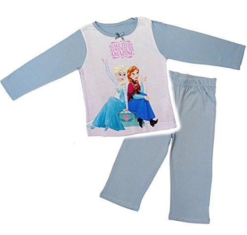 alles-meine.de GmbH 2 TLG. Set _ Schlafanzug / Hausanzug / Pyjama -  Disney - die Eiskönigin / Frozen  - Größe: 5 - 6 Jahre - Gr. 122 - 128 - Langer Trainingsanzug / Sportanzug..