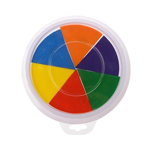 JIABAN Almohadilla de tinta de 6 colores para hacer tarjetas y sellos de goma