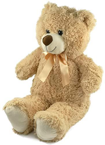 My-goodbuy24 Stofftier Kuscheltier Teddybär Teddy-Bär | 50cm | ver. Farben | Kuschelweich | mit Schlaufe | Plüsch-bär Kuschelig | Waschbar (58cm - Hellbraun)