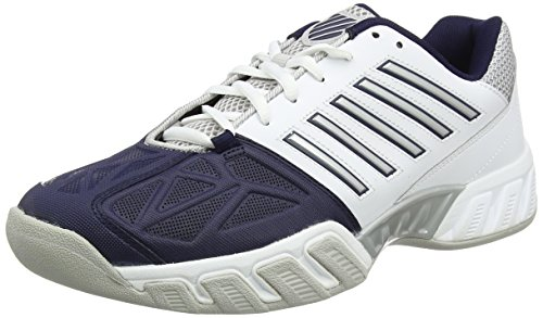 K-Swiss Performance BIGSHOT LIGHT 3 CARPET, Herren Tennisschuhe, Weiß (White/Navy), 44 EU(9.5 UK)