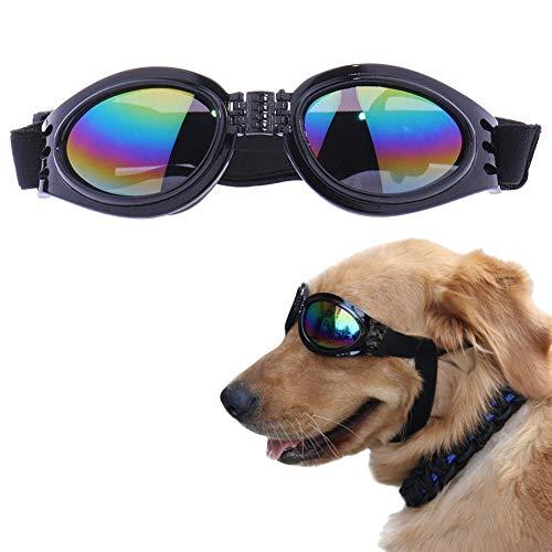 EROSPA® Sonnenbrille Schutzbrille Schwimmbrille für Hunde - Schwarz - Augenschutz