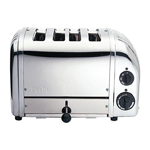 Dualit CD381 Toaster, 4 Brötchen, Schwarz