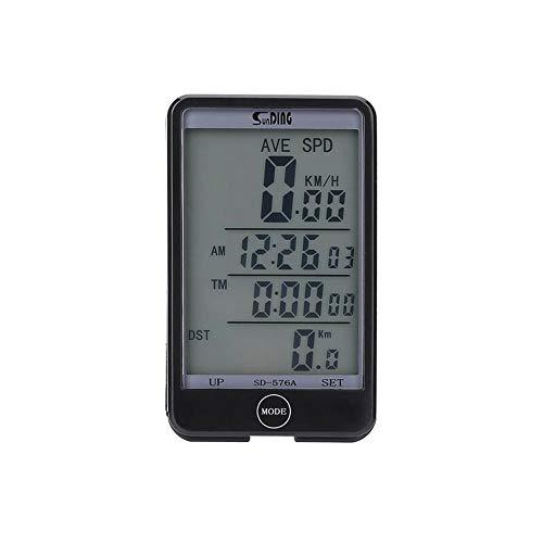 Everpert SUNDING SD 576A wasserdicht verdrahtete Fahrrad Computer LCD Hintergrundbeleuchtete Touchscreen Fahrrad Kilometerzähler