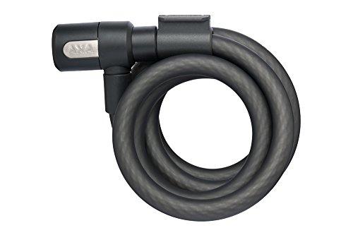 AXA Unisex Newton 180/15Fahrrad-Kabelschloss, matt schwarz, 1800mm x 15mm