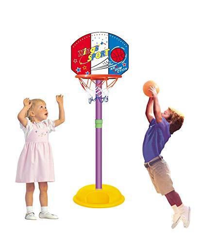 Ajuster pour enfant Junior Panier de basketball avec support pour pompe à ballon Panneau Set et balle intérieur ou extérieur Fun jouets Activités Boy pour cadeau de Noël Plus 3ans (3ans) pour enfant sport bébé