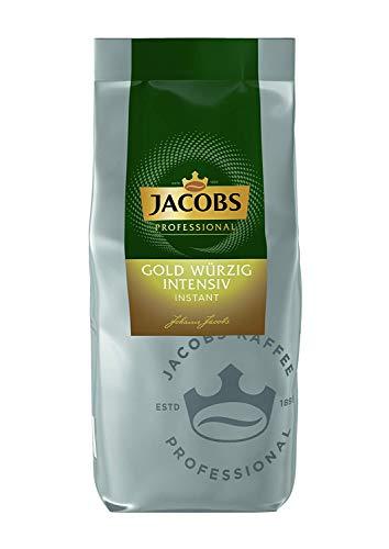 Jacobs Professional Gold Würzig Intensiv Instant, 500g, löslicher Bohnenkaffee, intensives und kräftiges Geschmackserlebnis