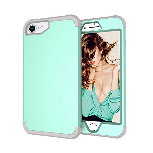iPhone 8/iPhone 7/iPhone 6S/iPhone 6 Case,Yoomer 3 in 1 Shockproof & Scratch-Resistant Hybrid Impact Armor Defender Case Silicone Rubber Skin Hard Back Cover Combo Bumper Case for iPhone 8/7/6S/6 4.7""