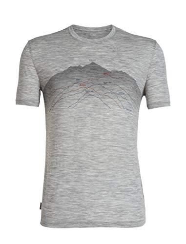 Icebreaker Herren Merino T-Shirt Spector Seven Summits, Metro Hthr, M, 104598