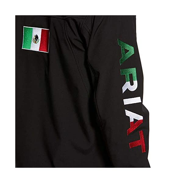 ARIAT Men's New Team Softshell Mexico Jacket, Black