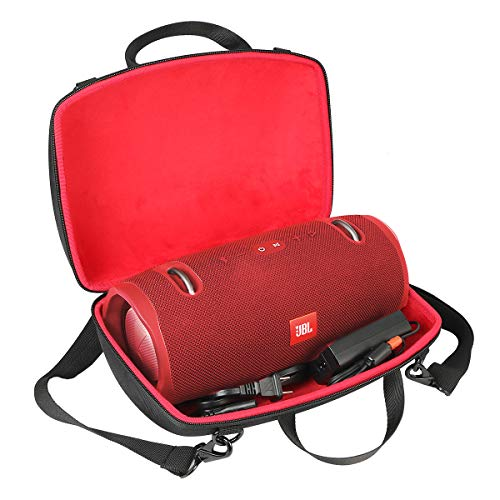 co2crea Hard Travel Case for JBL Xtreme 2 Portable Wireless Bluetooth Speaker (Xtreme 2, Black Hard Case with Inner Red)
