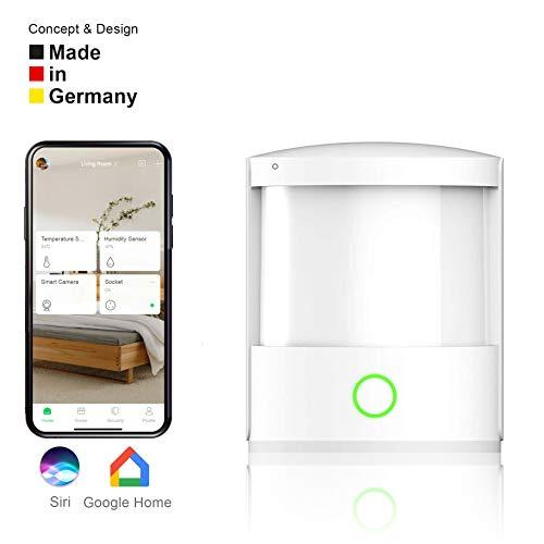 Homento Smarter Bewegungsmelder innen, kabelloser WLAN Motion Sensor für die Steuerung von Licht, Steckdose, Alarm etc, nutzbar mit Smartphone App - IOS & Android