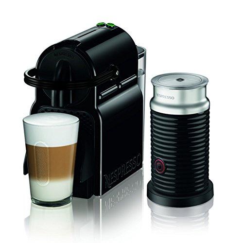 ネスプレッソ コーヒーメーカー イニッシア エアロチーノセット ブラック D40BK-A3B 4カップ以下