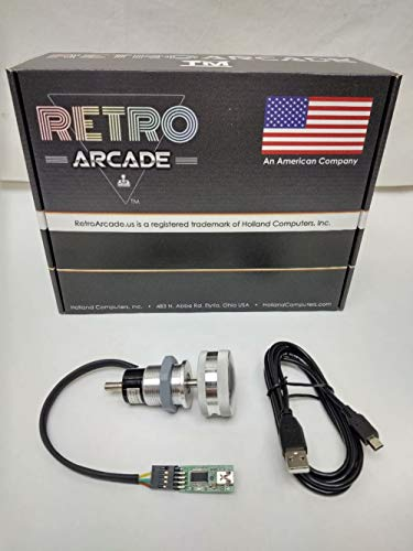 RetroArcade.us SpinTrack Arcade USB Spinner kit, Perfect for MAME and Jamma Systems