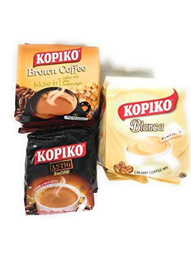 [ 3 Pack ] Kopiko Brown/Blanca/Astig 10 sachets per bag