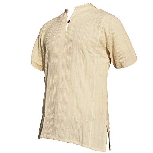 Fisherman Shirt BEN,beige, M, shortsleeve