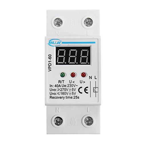 DyNamic Vpd1-60 40A 220V Sobre Y Bajo Voltaje Dispositivo Protector Automático Reconecte La Recuperación