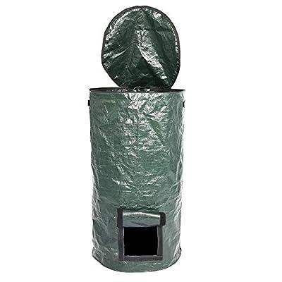 LianX Reusable Garden Waste Bags Reuseable Garden Leaf Waste Can Yard Compost Bin for Fruit Kitchen Waste Grower