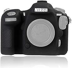 Easy Hood Camera Case for Nikon D500 Soft Silicone Rubber Camera Protective Body Case Skin for Nikon D500 Camera Bag Protector Cover (Black)